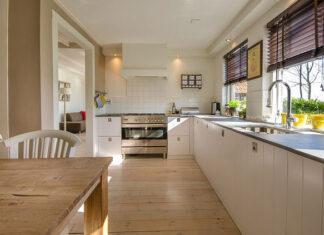 złoty kolor we wnętrzu kuchni